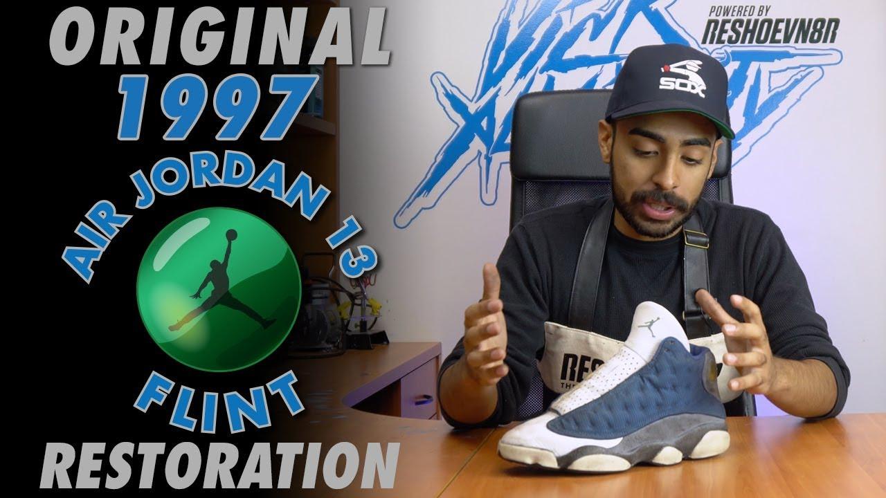 d8359f8e34f8a2 Original 1997 Air Jordan 13 Flint Restoration by Vick Almighty - YouTube