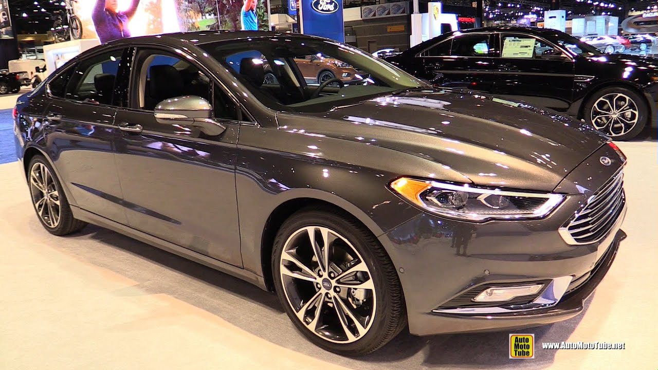 2017 ford fusion titanium exterior and interior walkaround 2016 chicago auto show youtube