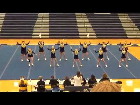 Portage Central Middle School Gold Cheer at 2018 Mustang Invite