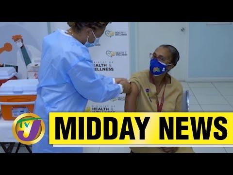1st Jamaican to Receive Covid-19 Vaccine | TVJ News