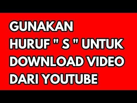 Cukup dengan menambah huruf ss kamu sudah bisa langsung download video di youtube