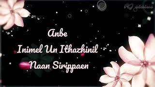 Uyire un uyirena song lyrics| Download👇 | Zero | Tamil whatsapp status | RJ status