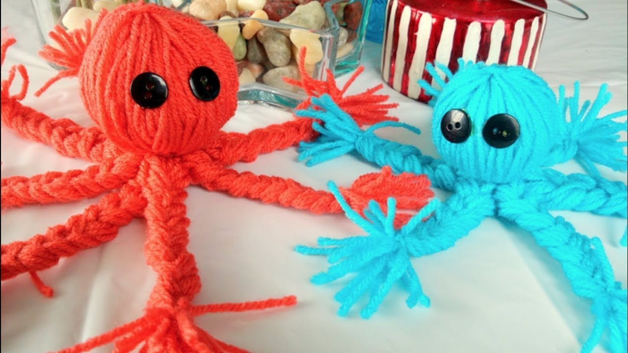 Easy Yarn Crafts For Kids How To Make A Yarn Octopus