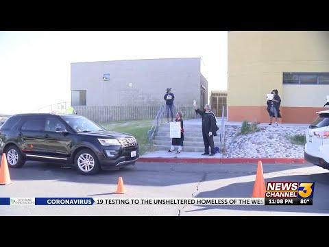 Desert Hot Springs High School seniors pick up graduation packets