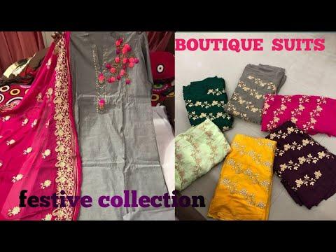 मनपसंद Boutique वाले सूट ले 280 रु में, डिजाइनर सूट, RETAIL और WHOLESALE दोनों में ले!Kaynak: YouTube · Süre: 27 dakika30 saniye