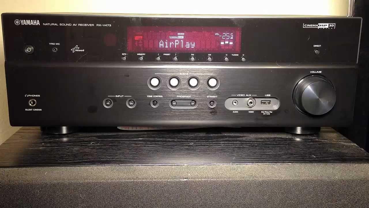 yamaha rx-v473 5.1-channel network av receiver review - youtube