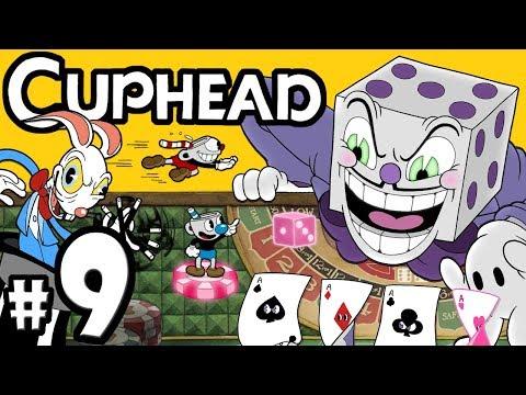 "CUPHEAD + Mugman - 2 Player Co-Op! - Gameplay Walkthrough PART 9: ""Boss Blitz at King Dice Casino"""
