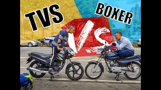 Boxer CT 100 VS TVS Sport 100  - Stunt