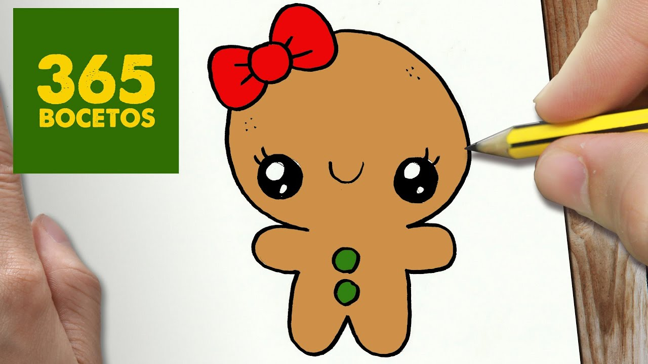 COMO DIBUJAR UN GALLETA PARA NAVIDAD PASO A PASO Dibujos kawaii navideños , How to draw a cookie , YouTube