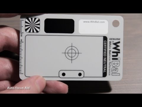 WhiBal G7 White Balance Card (w/o Commentary)