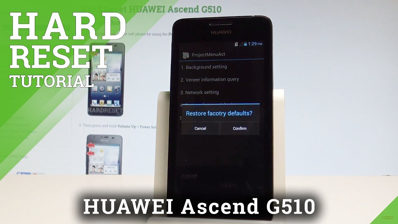How to Hard Reset HUAWEI Ascend G510 - Wipe Data by Secret Code  |HardReset Info