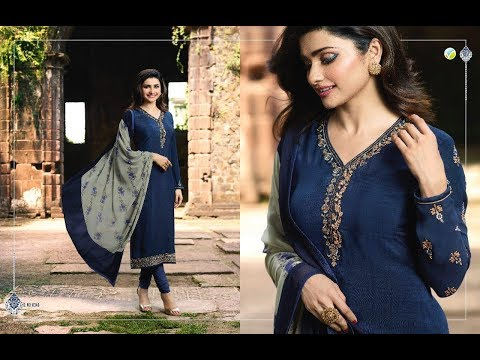 Latest Indian  Salwar Suits Dresses Collection 2018 || Vinay Fashion  ||  SILKINA ROYAL CRAPE 18