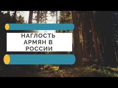 Наглость армян в России.