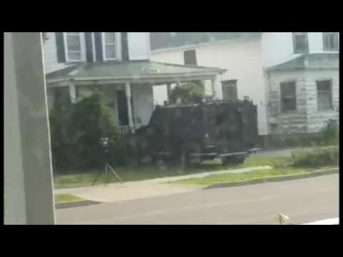 Police ram through Massena, NY home during drug raid