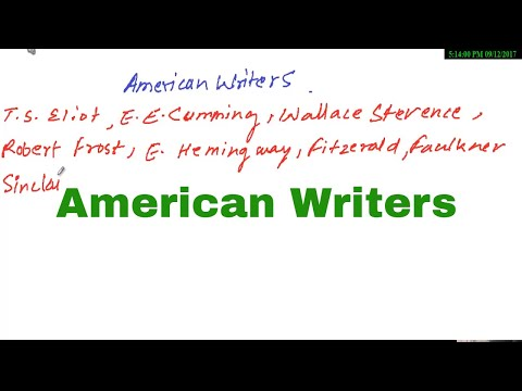 Important american writers for English literature exams ||English with Kaushik