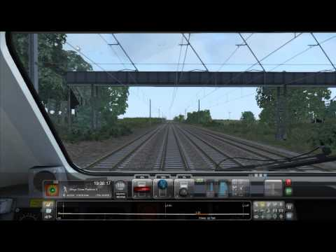 High Speed Train part 2 [Train Simulator 2015]. Highest graphics. Back to Bounds Green