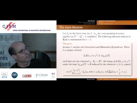 Michael Harris: Construction of p-adic L-functions for unitary groups