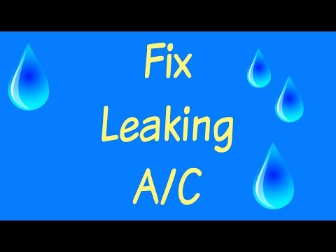 How to fix Air Con leaking Water / DIY