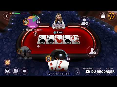 Zynga Poker 2.5b / 5b stakes Game play 50b to 215b