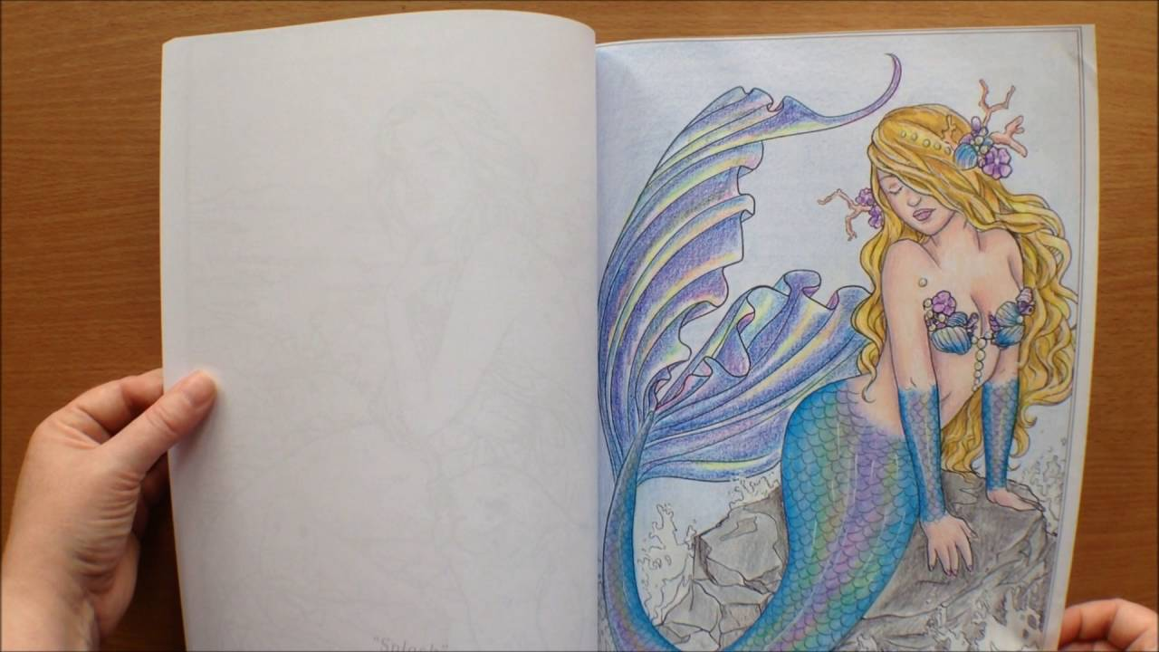 Fairy art coloring book by selina fenech - Mermaids Calm Ocean By Selina Fenech Colouring Book Flipthrough Youtube