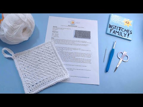 How To Read a Pattern - PART 2 - Moss Stitch Dishcloth - Live Crochet Tutorial