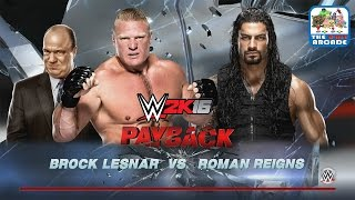 WWE 2K16 - Brock Lesnar takes Roman Reigns to Suplex City (Xbox One Gameplay)