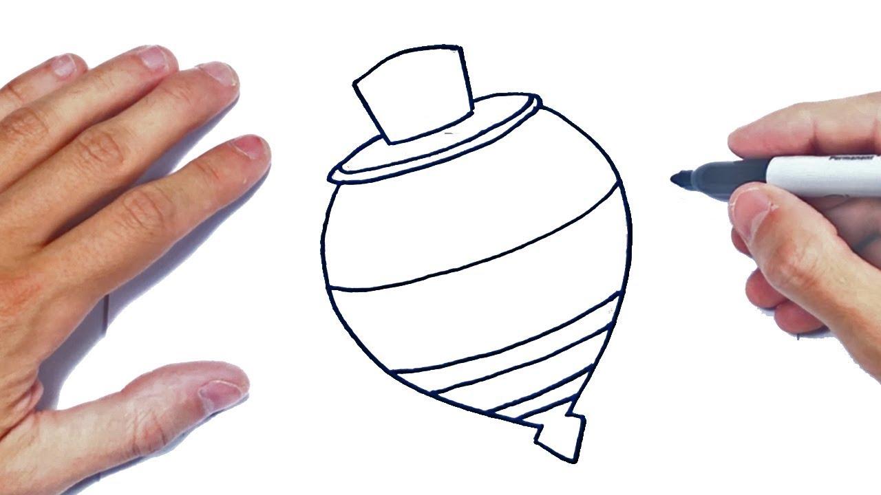 Como Dibujar Un Trompo Paso A Paso Dibujo De Trompo Youtube