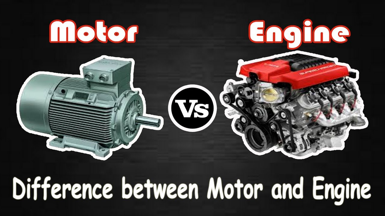 motor vs engine difference
