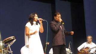 Mona kamat sings with Sudesh Bhosle - Jane jaa at Aami Goenkar Program at Dadar