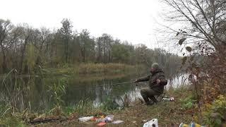 Рыбалка в ноябре на реке болонка поплавок рулит плотва