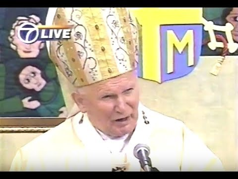 Pope John Paul II Papal Mass in Central Park 1995