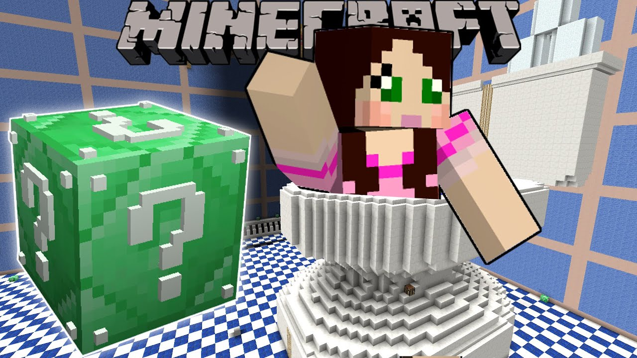 Minecraft GIANT TOILET HUNGER GAMES Lucky Block Mod Modded Mini Game YouTube