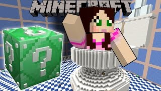 Minecraft GIANT TOILET HUNGER GAMES Lucky Block Mod Modded Mini Game