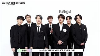 [2021NYEL] 2021 NEW YEAR'S EVE LIVE Relay Q&A - BTS (방탄소년단)