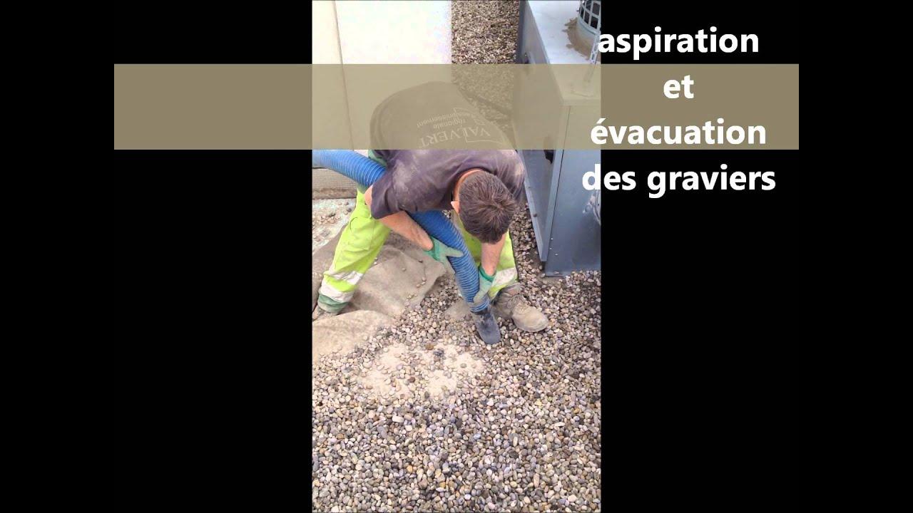 Aspiration Pompage Soufflage De Graviers Ou Substrats Sur Toiture Terrasse