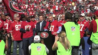 Dwight Clark addressed 49ers fans in touching halftime ceremony Free HD Video
