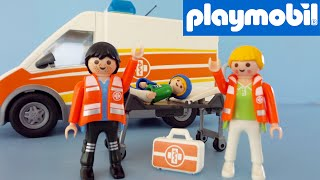 Playmobil Ambulance 6685 unboxing and playing | Playmobil City Life