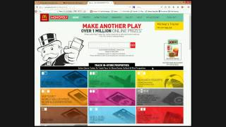 McDonald's Monopoly live sticker peel and online game play