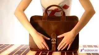Мужской кожаный портфель Biordo Bigbrown(, 2014-06-02T19:02:11.000Z)
