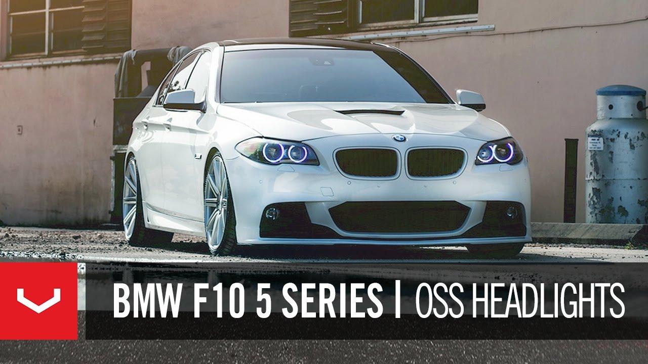 Bmw F10 5 Series 550i On 20 Quot Vossen Vvs Cv4 Concave Wheels Rims Youtube