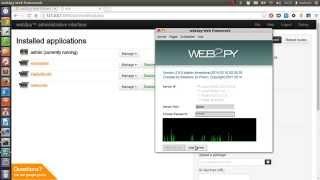 Web2py Python Framework Installation Tutorial