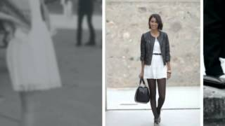 видео С чем носить черно-белое платье?