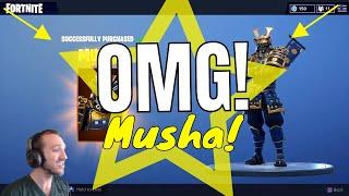 (Omg!) I Unlocked Musha Fortnite skin and its AWESOME!