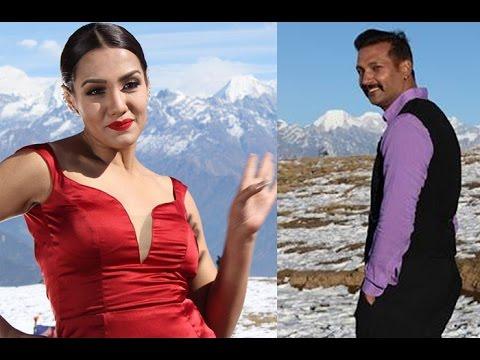 सेक्सी प्रियंकासँग निखिलको हिउँमा यति साह्री मस्ती, प्रियंका बेहोस/Nikhil & Priyanka Karki