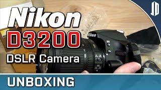 Nikon D3200 DSLR and Nikkor DX 18-105mm VR Lens Unboxing + Overview