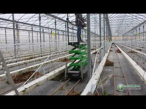 Greenhouse pipe rail trolleys - 18'ft Working Height