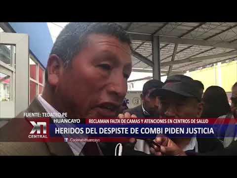HERIDOS DEL DESPISTE DE COMBI PIDEN JUSTICIA