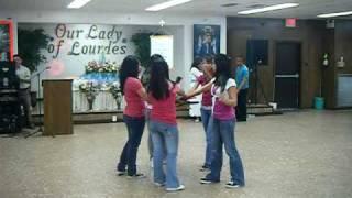 fan dancing performance @ church.