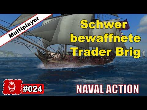 Naval Action #024 ✰ Schwer bewaffnete Trader Brig.. ✰ German Gameplay