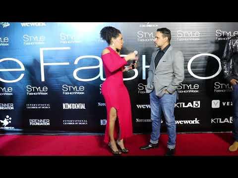Robert Menendez Interviews with Jackie Elam Live at Style Fashion Week